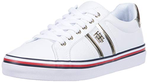 Tommy Hilfiger Women's FENTII Sneaker, White Multi, 8.5