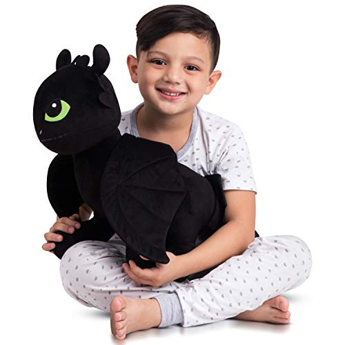 Franco Kids Bedding Super Soft Plush Cuddle Pillow Buddy, One Size, How to Train Your Dragon Toothless