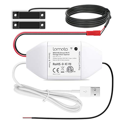 Lomota Smart Wi-Fi Garage Door Opener Remote, Tuya Smart Life APP Control, Work with Alexa, Google Assistant, No Hub Needed