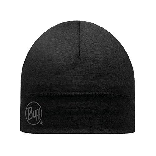 Buff Unisex Outdoor Lightweight Merino Wool Hats, Solid Black, OS