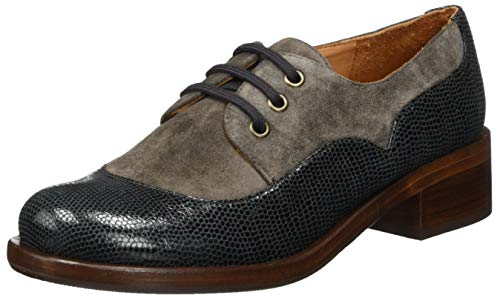 Chie Mihara Women's Oxford Lace-Up Flat, Asfalto, US 7.5