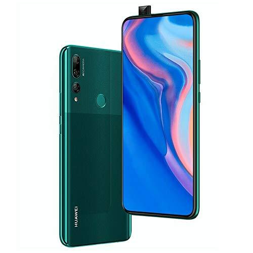 Huawei Y9 Prime 2019 (128GB, 4GB RAM) 6.59' Display, 3 AI Cameras, 4000mAh Battery, Dual SIM GSM Factory Unlocked - STK-LX3, US & Global 4G LTE International Model (Emerald Green, 128 GB)