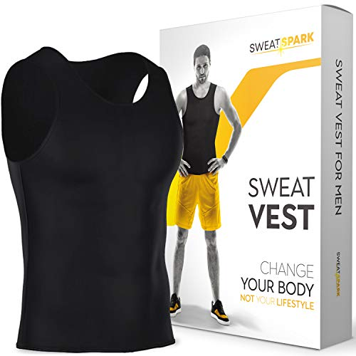 Sweat Vest for Men - (XS-10XL) - Advanced Weightless Neoprene Sauna Shirt – Increase Your Workout Motivation - Designed in The USA (7XL)