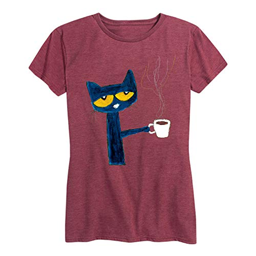 Pete The Cat with Coffee - Women's Short Sleeve Graphic T-Shirt