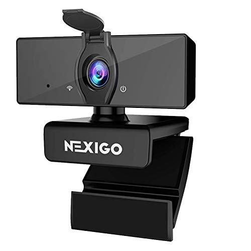 1080P Business Webcam with Dual Microphone & Privacy Cover, NexiGo N660 USB FHD Web Computer Camera, Plug and Play, for Zoom/Skype/Teams/Webex, Laptop MAC PC Desktop