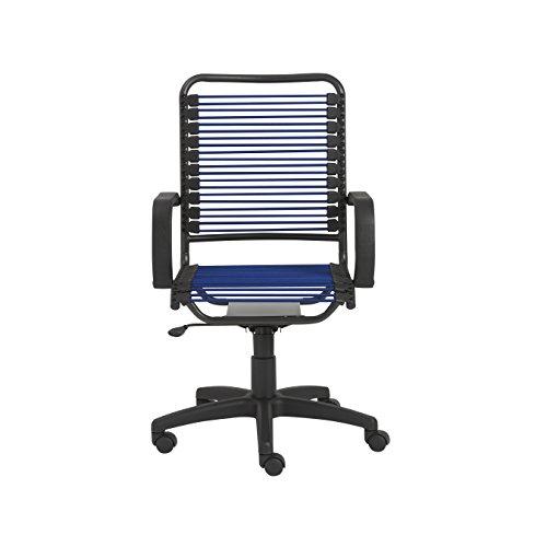 Eurø Style Bradley Bungie Office Chair, L: 27 W: 23 H: 37.5-43 SH: 17.5-23, Blue