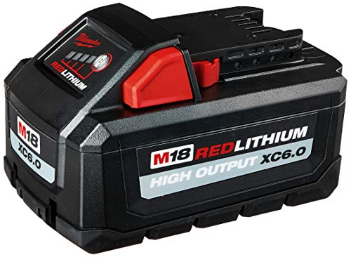 Milwaukee 48-11-1865 M18 18-Volt Lithium-Ion High Output Battery Pack 6.0 Ah
