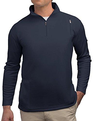 SCOTTeVEST Men's Qzip - 3 Pockets - Travel Clothing, Pickpocket Proof STL L Steel Blue