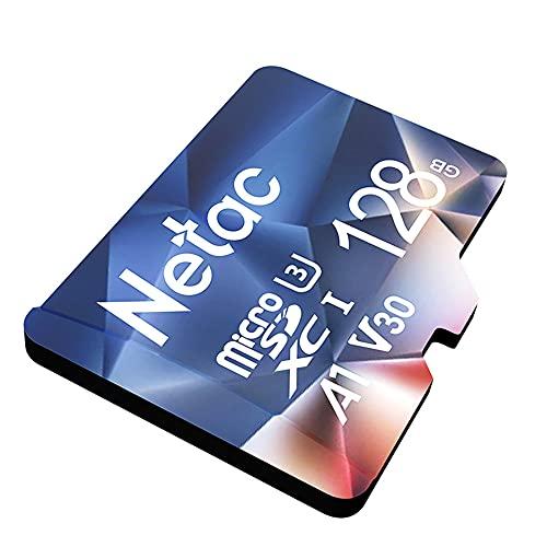 Netac Micro SD Card 128GB Mini SD Card MicroSDXC MicroSDHC 128GB Memory Card - UHS-I, 100MB/s, 667X, U3, C10, V30, A1, EXFAT TF Card
