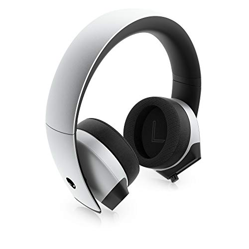 Alienware 7.1 PC Gaming Headset AW510H-Light: 50mm Hi-Res Drivers - Noise Cancelling Mic - Multi Platform Compatible(PS4,Xbox One,Switch) via 3.5mm Jack, Gray