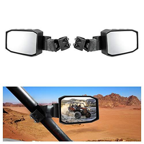 A & UTV PRO UTV Side Mirrors ,Adjustable Folding 180° Rear View Racing Mirror Universal Fit for 1.75' to 2' Roll Bar Cage,Polaris RZR, Kawasaki Teryx, Yamaha Rhino and YXZ, RZR 2020,Black
