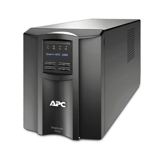 APC Smart-UPS 1000VA UPS Battery Backup with Pure Sine Wave Output (SMT1000) (Renewed)