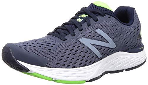 New Balance Men's 680 V6 Running Shoe, Pigment/RGB Green, 12 M US