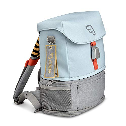 JetKids by Stokke Crew BackPack, Blue Sky - Kid's Lightweight Expandable Bag - Great for School & Travel - Adjustable & Water-Resistant - Best for Ages 2-7