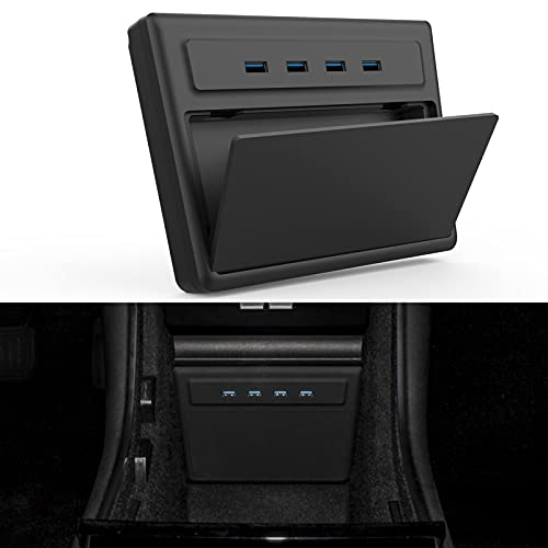 TAPTES USB Hub Pro Tesla Model 3 6 in 1 Ports, M3 Accessories Dashcam & Sentry Mode Viewer USB Hub Pro dongle USB for Tesla, Designed for Tesla Model 3 Before June 2020 Produce (Not for Model Y)