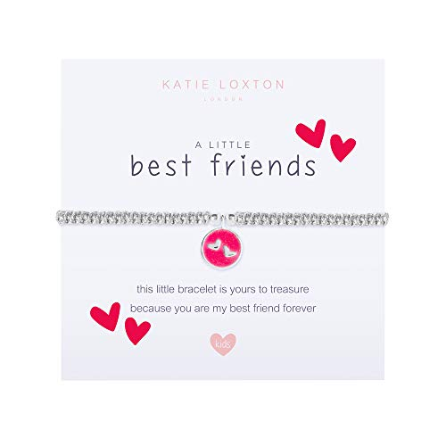 Katie Loxton A Little Best Friends Red Hearts Girls' Stretch Adjustable Band Charm Bracelet