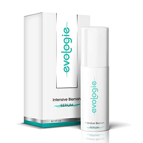 evologie Intensive Blemish Serum | Helps Clear Acne, Dark Spots & Scars | Non-Drying, Hypoallergenic, Natural Ingredients | 0.5 Fl. Oz