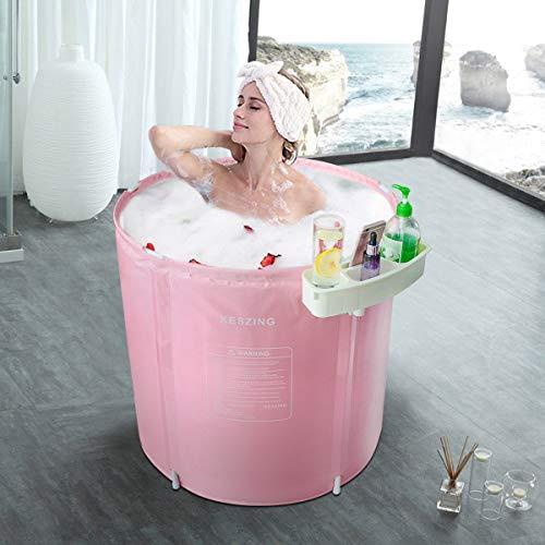 Inflatable Bathtub Portable Bathtub Hot Tub Freestanding Bathtubs Ice Bath Tub in Small Spaces Spa for Shower Adult