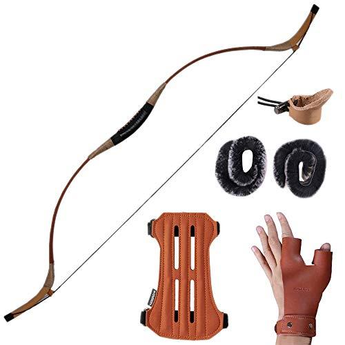 Huntingdoor Handmade Recurve Archery Bow Hunting Longbow Mongolian Traditional Horsebow 30-60LBS (30)
