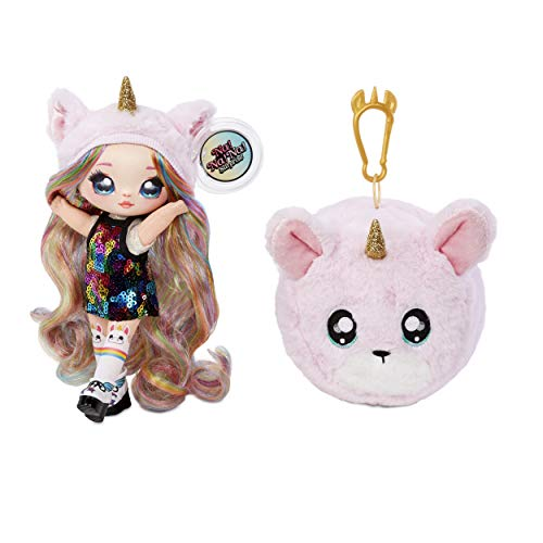 MGA Entertainment Na! Na! Na! Surprise 2-in-1 Fashion Doll & Plush Pom with Confetti Balloon Unboxing, Multicolor (Styles May Vary)