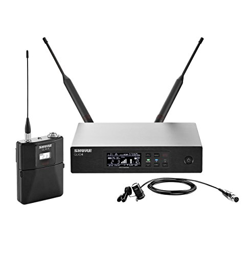 Shure QLXD14/84 Wireless Microphone System with Bodypack and WL184 Supercardioid Lavalier Mic