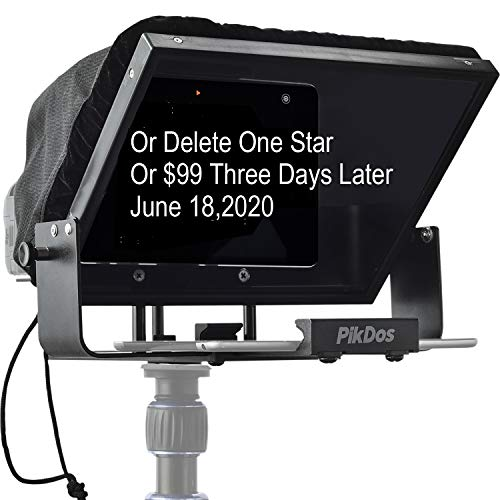 Portable Adjustable Ipad Teleprompter Kit for iPhone Tablet Smartphone 12 Inch Beam Splitter Glass with Carry Case No Assembly Required
