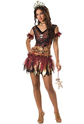 InCharacter Costumes Juniors Voodoo Vixen Costume, Leopard/Burgundy, Medium