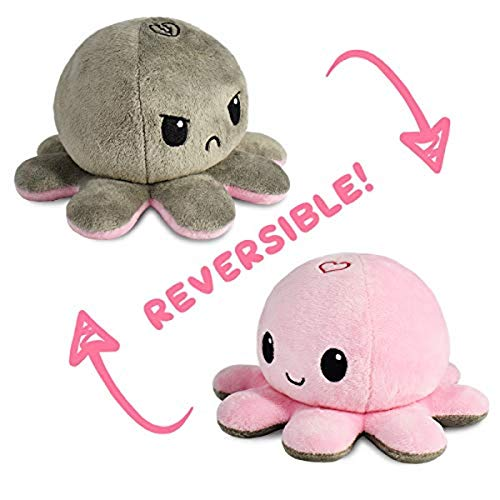 The Original Reversible Octopus Plushie | TeeTurtle's Patented Design | Show your mood without saying a word!