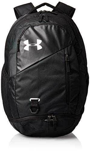 Under Armour Adult Hustle 4.0 Backpack , Black (001)/Silver , One Size