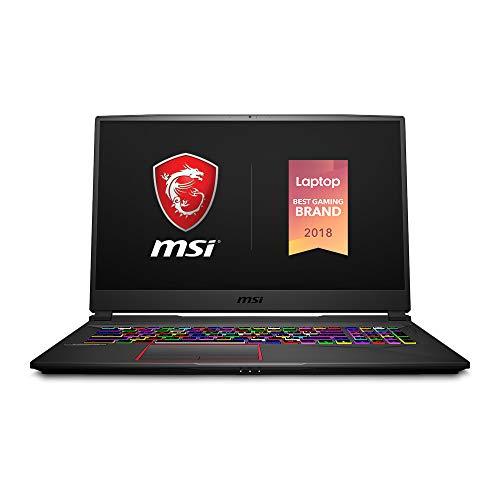 MSI GE75 Raider-050 17.3' Ultra Thin Bezel Gaming Laptop NVIDIA RTX 2060 6G, 144Hz 3ms, Intel i7-8750H (6 cores), 16GB, 256GB NVMe SSD+1TB, Per Key RGB, Win 10, Aluminum Black