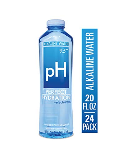 Perfect Hydration 9.5+ pH Electrolyte Enhanced Drinking Water, 20 Ounces, 24 Bottles