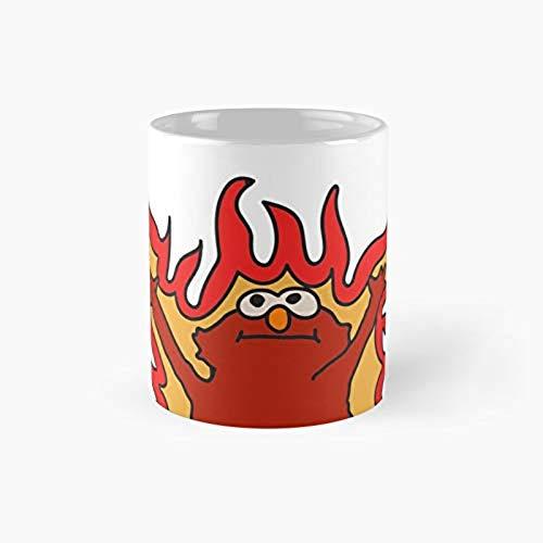 Flaming Elmo Hellmo Classic Mug Best Funny Coffee Mugs 11 Oz V7PCP5