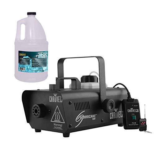 CHAUVET DJ Hurricane 1000 Fog Machine w/Wired & Wireless Remote + FJU Fog Fluid