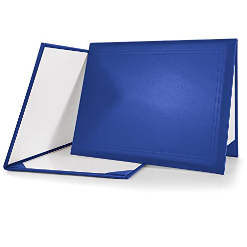 GraduationMall 8.5'x11' Smooth Padded Diploma Cover Certificate Holder Royal Blue