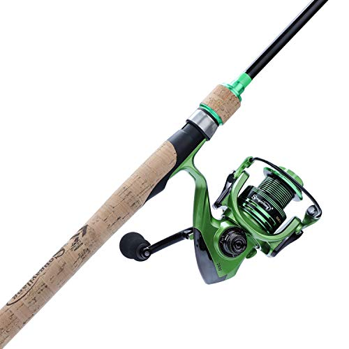 Sougayilang Fishing Rod Reel Combos, Protable Light Weight Carbon Fiber Travel Fishing Poles with Spinning Reels for Bass-5PC-7.9FT