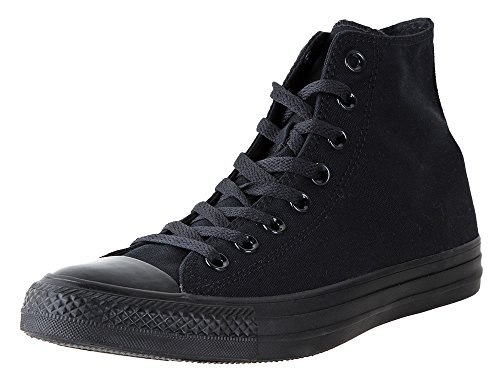Converse Chuck Taylor All Star Hi Top Sneaker Black Monochrome 12 Women/10 Men