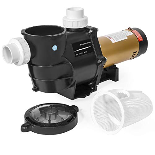 XtremepowerUS 2HP In-Ground Swimming Pool Pump Variable Speed 2' Inlet 230V High Flo w/ Slip-On Fitting