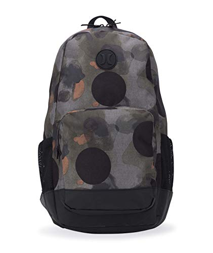 Hurley Men's Renegade Printed Laptop Backpack, faded olive, QTY