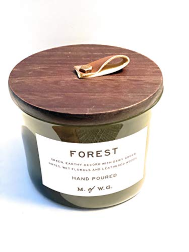 Makers of Wax Goods Forest Double Wick Candle with Wooden Top 11.4 Oz