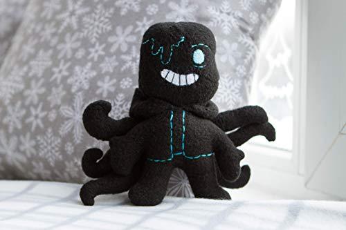 Nightmare! Sans plush - handmade deltarune plush Undertale AU isnpired plush , 5 in