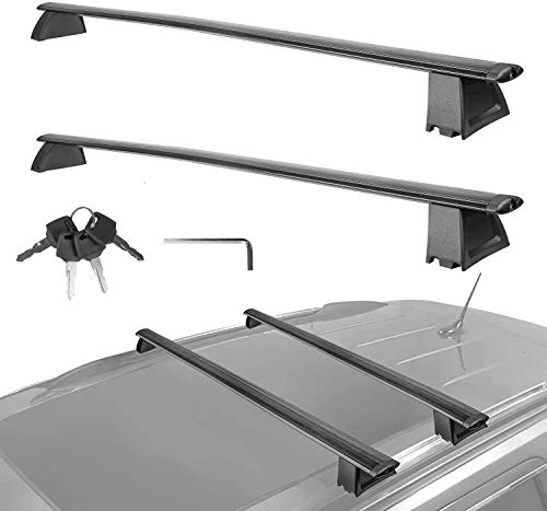 MOSTPLUS Roof Rack Cross Bar Luggage Rack Compatible for Jeep Grand Cherokee with Side Rails 2011 2012 2013 2014 2015 2016 2017 2018 2019 2020 (Not fit SRT & Altitude Models) Anti-Theft Design