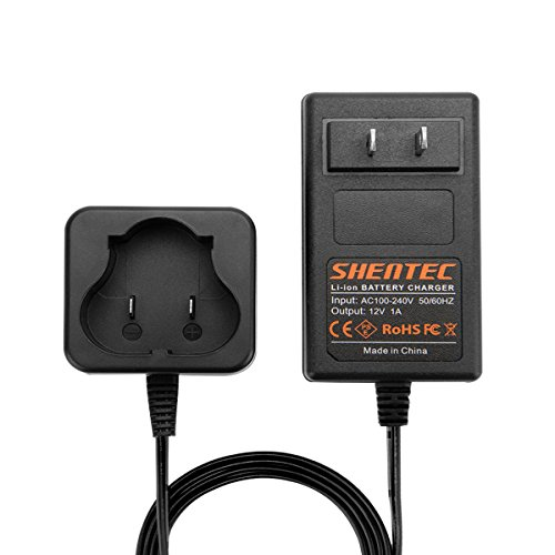 Shentec 12V Lithium Battery Charger Compatible with Black and Decker 12V BL1110 BL1310 BL1510 LB12 LBX12 LBXR12 Pod Style Battery (Not Compatible with Firestorm Battery and PS130 Battery Ni-MH/Ni-CD)