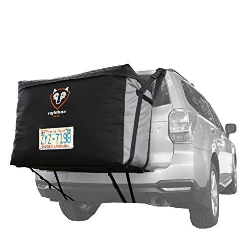 Rightline Gear 100B90 Car Back Carrier, 13 cu ft, 100% Waterproof, Attaches With or Without Roof Rack