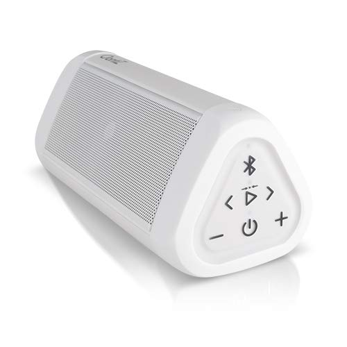 OontZ Angle 3 Ultra Portable Bluetooth Speaker, 14 Watts, Bigger Bass, Hi-Quality Sound, 100 Foot Wireless Range, Play Two Speakers Together, IPX6, Bluetooth Speakers by Cambridge SoundWorks (White)