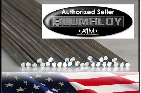Alumaloy 20 Rods - USA Made, As Seen on TV, 1/8' x 18' Simple Welding Rods, Aluminum Brazing/Welding Rods, Aluminum Repair