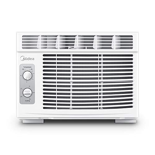 MIDEA MAW05M1BWT Window air conditioner 5000 BTU with Mechanical Controls, 7 temperature settings, 2 cooling and fan settings,110V, White