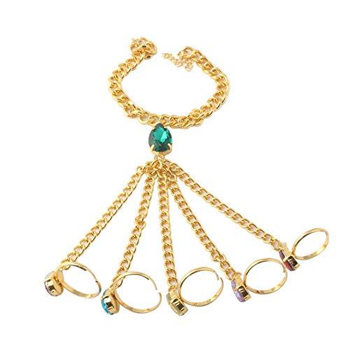 Blingsoul Gauntlet Finger Bracelet - Slave Stones Hand chain Christmas Jewelry Gift for Women