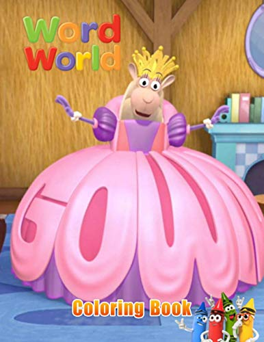 Word World Coloring Book: Super Gift for Kids and Fans - Great Coloring Book with 50+ High Quality Images