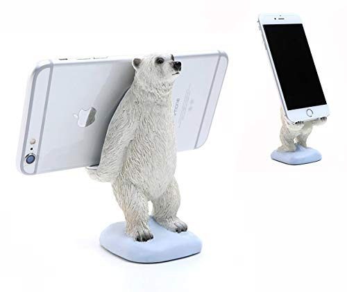 Cute Polar Bear Animal Cell Phone Stand for Desk Smartphone Mobile Phone Holder for iPhone Xs Max XR 8 Plus 7 6S X 5 Samsung Galaxy S10 S9 S8 S7 Edge S6 Android Smartphone Holder Desk Decorations