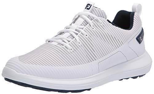 FootJoy Men's FJ Flex XP Golf Shoes, White, 11 M US
